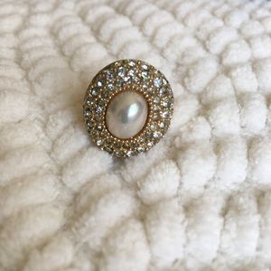 Christian Dior Vintage Faux Pearl Ring